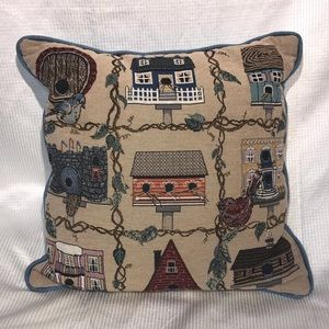Birds & Birdhouses Decorative Throw Pillow